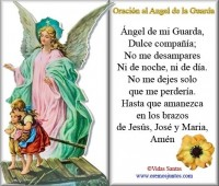 Imágenes de el ángel de la guarda con oración