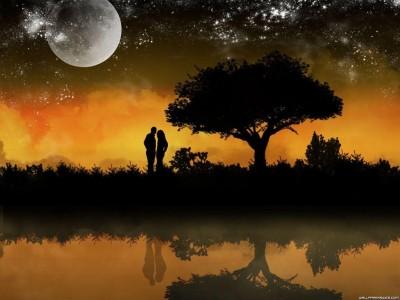 bello paisaje de amor