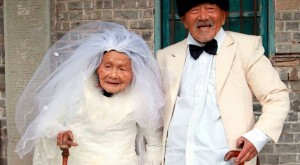 Chinese-Couple-Over-100-Years-Old-Each-Pose-for-Wedding-Photo