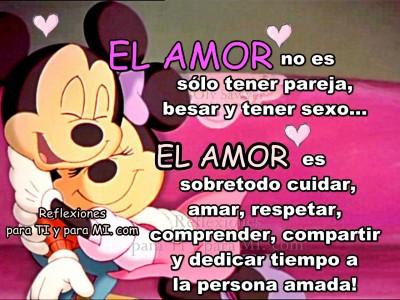 el amor no solo es...