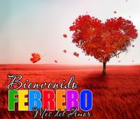 Imágenes de corazones con frases bienvenido el mes del amor