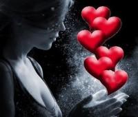 Fondo de amor con corazones enamorados