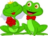 22731616-bride-and-groom-frogs-cartoon-characters