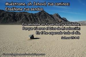 Frases en Imagenes para Facebook Cristianas Salmos 25 4 5