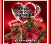 Imágenes de corazones con frases de feliz día de san valentin