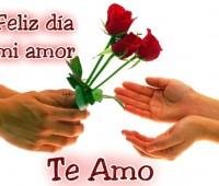 Imagenes de corazones con frase de feliz día del amor y la amistad
