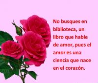 Imágenes de rosas rojas con frases de te amo por siempre