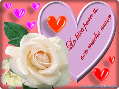 imagenes romanticas de amor con corazones y rosas para facebook