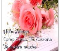 Lindas imágenes de amor con rosas para una amiga