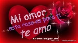 1-mensajes de amor corazones y rosas para facebook