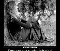 Imágenes de amor con frases que triste es vivir sin ti