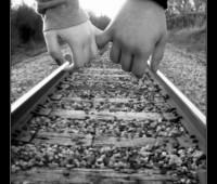 Imágenes con frases que lindo caminar de tu mano