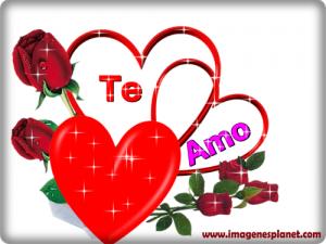 imagenes romanticas de amor para fecebook con corazones y rosas