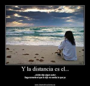 y la distancia es el