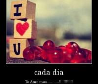 Tarjetas de amor con frases cada día te amo mas