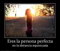 Tarjetas de amor con frases la persona perfecta eres tu