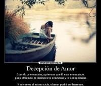 Imágenes con frases de decepción de amor