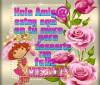 Imágenes de rosas con frases hola amiga