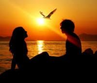 Imágenes románticas de atardeceres