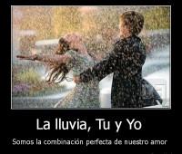 Fotos de amor de parejas bajo la lluvia con frases de amor