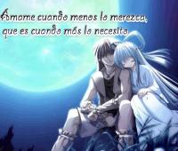 Imágenes de anime con frases de amor
